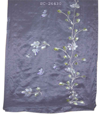 Embroidered Silk Scarves